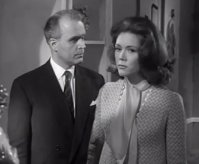 Richard Bebb in an episode of 'The Avengers' with Diana Rigg